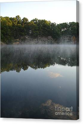Quarry Reflections Canvas Print by Chad Natti
