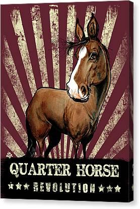 Canvas Print - Quarter Horse Revolution by John LaFree