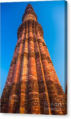 Quatab Minar Tower Canvas Print by Inge Johnsson