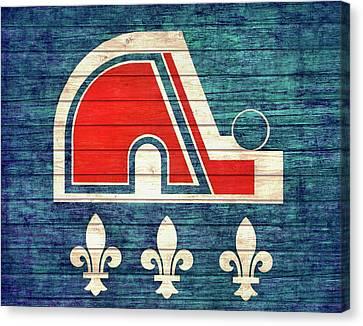 Quebec Nordiques Barn Door Canvas Print by Dan Sproul