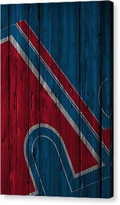 Quebec Nordiques Wood Fence Canvas Print