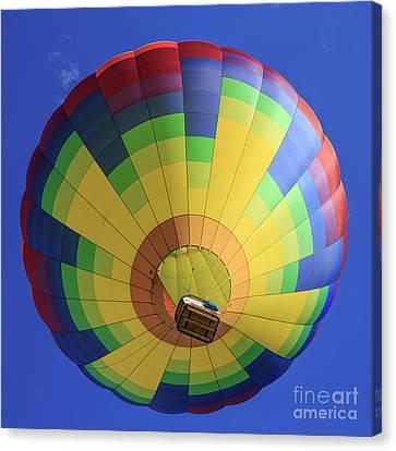 Quechee Vermont Hot Air Balloon Festival 4 Canvas Print by Edward Fielding
