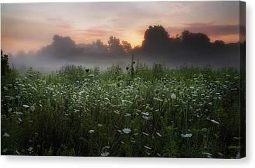 Summer Canvas Print - Queen Ann Sunrise by Bill Wakeley