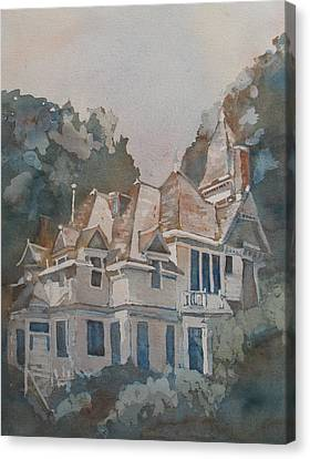 Queen Anne Nods To Shirley Jackson Canvas Print by Jenny Armitage