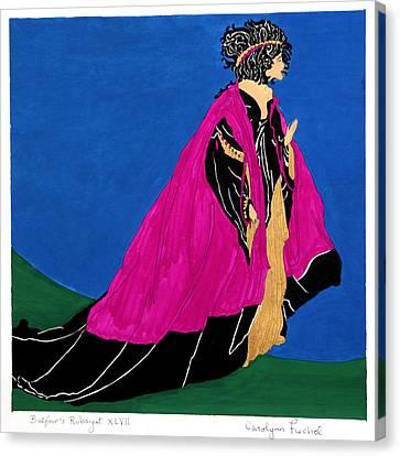 Rubaiyat Canvas Print - Queen by Carolynn Fischel