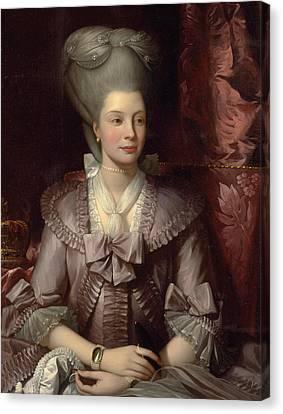 Queen Charlotte Canvas Print by Benjamin West