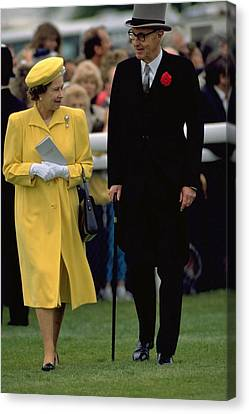 Queen Elizabeth Inspects The Horses Canvas Print