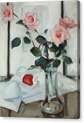 Queen Elizabeth Roses Canvas Print by Samuel John Peploe