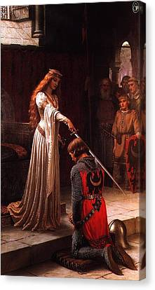 Queen Guinevere And Sir Lancelot Canvas Print by MotionAge Designs