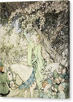 Queen Guinevere Canvas Print by Arthur Rackham