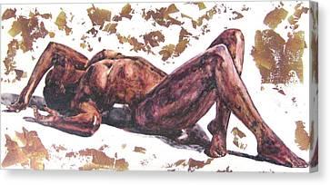 Queen In Gold II Canvas Print