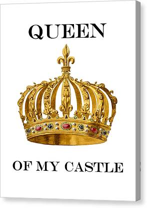Queen Of My Castle Illustration Canvas Print