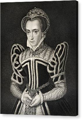 Queen Mary Aka Mary Tudor Byname Bloody Canvas Print by Vintage Design Pics