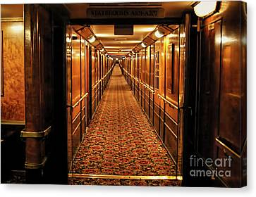 Canvas Print featuring the photograph Queen Mary Hallway by Mariola Bitner