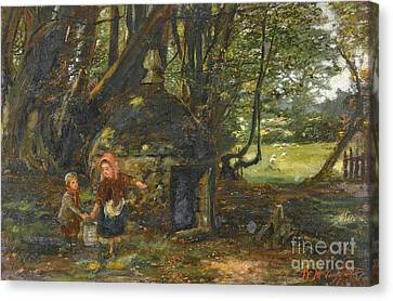 Queen Mary Well, Barncluith Canvas Print by MotionAge Designs
