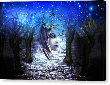 Queen Of Air And Darkness Canvas Print by Lisa Yount
