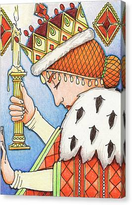 Queen Of Diamonds Canvas Print by Amy S Turner