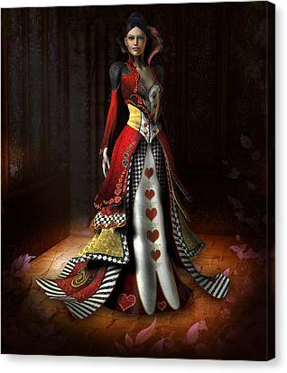 Queen Of Hearts Canvas Print by David Griffith