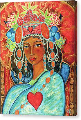 Queen Of Her Own Heart Canvas Print by Shiloh Sophia McCloud