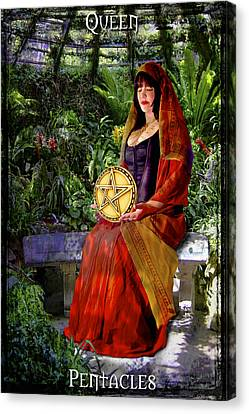 Queen Of Pentacles Canvas Print