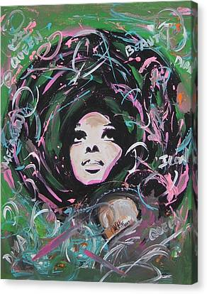 Diana Ross Canvas Print - Queen Of Queens by Antonio Moore
