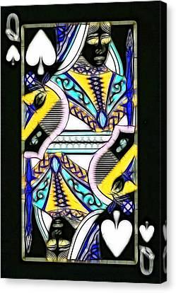 Queen Of Spades - V2 Canvas Print