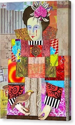 Queen Of Spades Custom Order Canvas Print by Elena Nosyreva