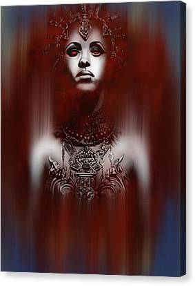 Queen Of The Damned Canvas Print by Michael Gibbs