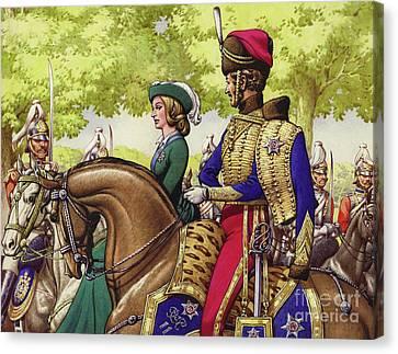 Queen Victoria And Prince Albert Canvas Print