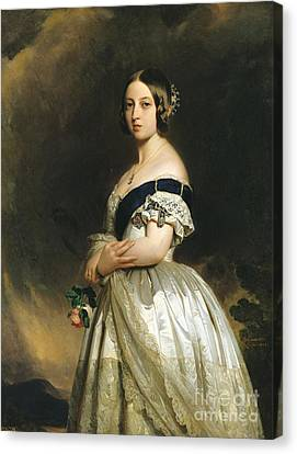 Queen Victoria Canvas Print by Franz Xaver Winterhalter