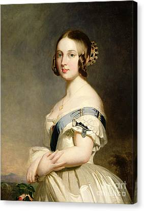 Braids Canvas Print - Queen Victoria by Franz Xavier Winterhalter