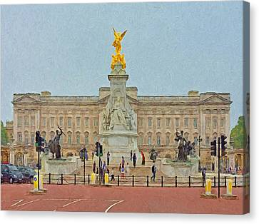 Queen Victoria Memorial And Buckingham Palace Canvas Print