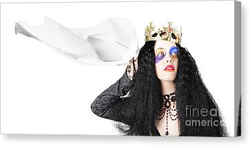 Queen Waving White Flag Canvas Print by Jorgo Photography - Wall Art Gallery