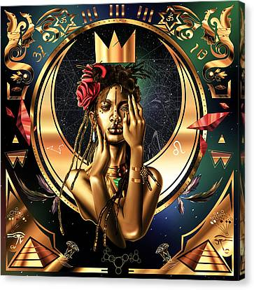 Queen Willow Illustration Of Gold Canvas Print by Kenal Louis