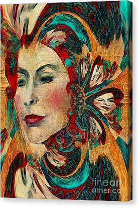 Canvas Print featuring the digital art Queenie by Alexis Rotella