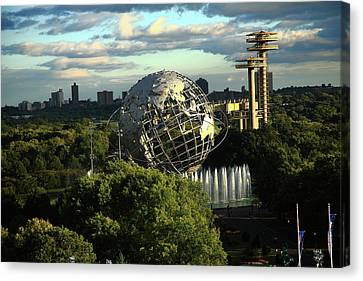 Queens New York City - Unisphere Canvas Print by Frank Romeo
