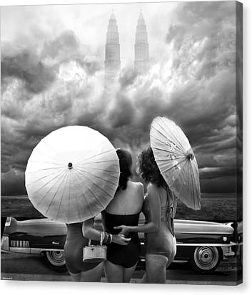 Queens Of The Highway Canvas Print by Larry Butterworth