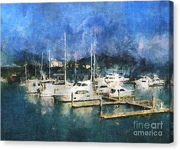 Canvas Print featuring the photograph Queensland Marina by Claire Bull