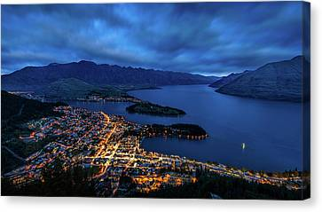 Aotearoa Canvas Print - Queenstown Lights Up by Kumar Annamalai