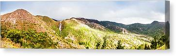Queenstown Tasmania Wide Mountain Landscape Canvas Print