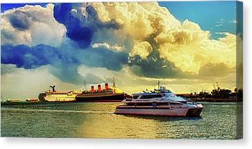 Water Vessels Canvas Print - Queensway Bay Ships by Joseph Hollingsworth