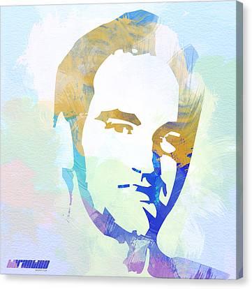 Quentin Tarantino Canvas Print by Naxart Studio
