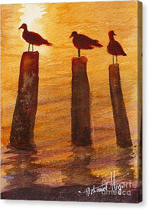Queuing For Breakfast Canvas Print