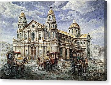 Quiapo Church 1900s Canvas Print by Joey Agbayani