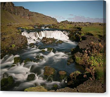 Canvas Print featuring the photograph Quick Flowing by Elvira Butler