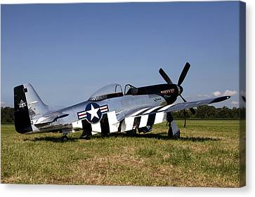 Vintage Air Planes Canvas Print - Quick Silver Geneseo by Peter Chilelli