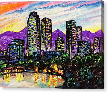 Canvas Print featuring the painting Quick Sketch - Denver by Aaron Spong