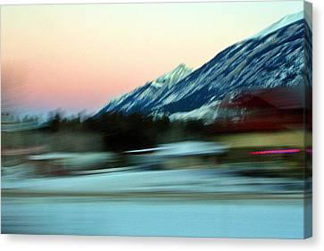 Quick To The Mountain Canvas Print by Mario Brenes Simon