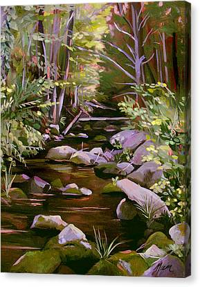 Quiet Brook Canvas Print by Nancy Griswold