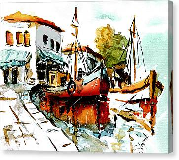 Quiet Corner On The Med Canvas Print by Steven Ponsford